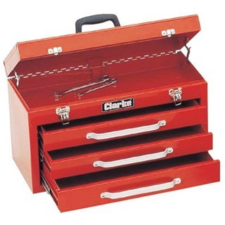 ארגז כלים מפלדה - 3 מגירות + תא עליון CLARKE
