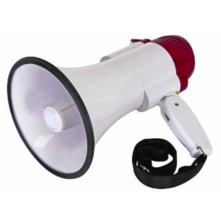 HQ POWER 10W MEGAPHONE WITH RECORD
