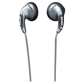 אוזניות כפתור כסופות - MAXELL BUDZ MAXELL