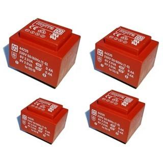 שנאי יצוק למעגל מודפס - 2X12V 2.3VA MYRRA