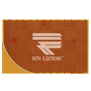 לוח נקודות הלחמה חד צדדי - 100X160MM FR2 ROTH ELEKTRONIK