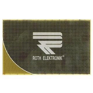 לוח פסי הלחמה חד צדדי - 100X160MM FR4 ROTH ELEKTRONIK