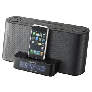 SONY CLOCK RADIO WITH IPOD / IPHONE DOCK