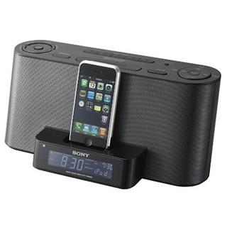 רדיו / שעון מעורר עם תחנת עגינה עבור IPHONE 4/4S SONY