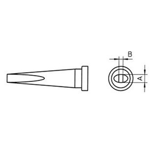 ראש למלחם - WELLER LT-M - 3.2MM LONG CHISEL WELLER