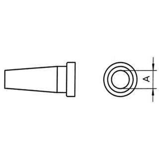 ראש למלחם - WELLER LT-CS - 3.2MM ROUND WELLER