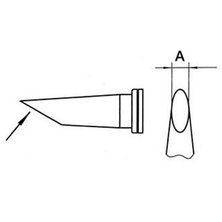 ראש למלחם - WELLER LT-DD - 4.6MM ROUND SPADE WELLER