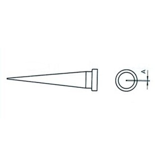 ראש למלחם - WELLER  LT-T - 0.6MM LONG CONICAL WELLER