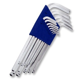 DURATOOL LONG ARM BALL ENDED HEX KEY SETS