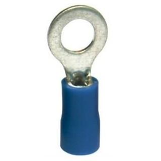 נעל כבל טבעת 4MM - כחול - 100 יחידות MULTICOMP