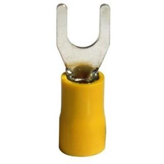 נעל כבל מזלג 5MM - צהוב - 100 יחידות MULTICOMP