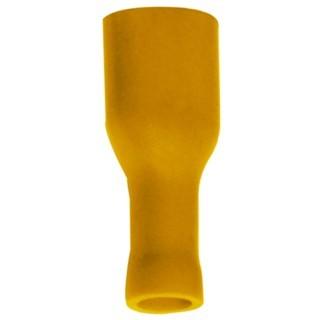 נעל כבל נקבה בידוד מלא 6.3MM - צהוב - 100 יחידות MULTICOMP