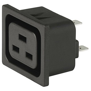 שקע חשמל IEC 16A לפנל SCHURTER