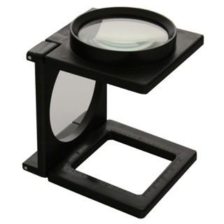 זכוכית מגדלת שולחנית מתקפלת - הגדלה X5 DURATOOL