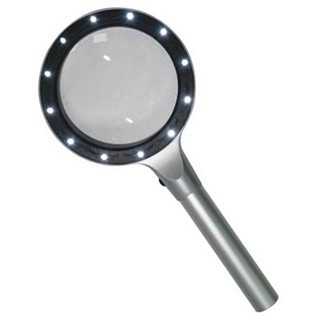 PROSKIT HANDHELD METAL MAGNIFIER WITH LEDS