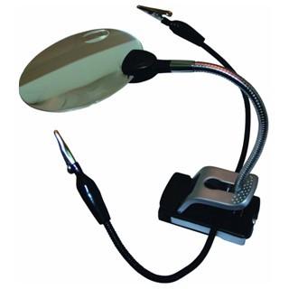 יד שלישית עם זכוכית מגדלת ותאורת LED PROSKIT