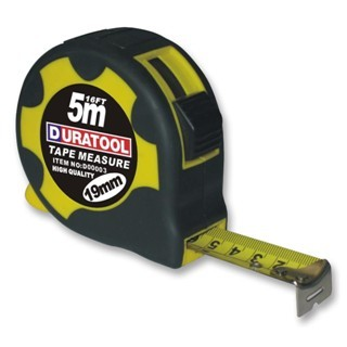 DURATOOL RUBBER TAPE MEASURES