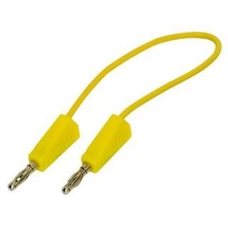 כבל בדיקה צהוב - 4MM PLUG-PLUG 0.5M PRO-SIGNAL