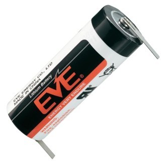 סוללת ליתיום עם תגיות הלחמה - A 3.6V EVE