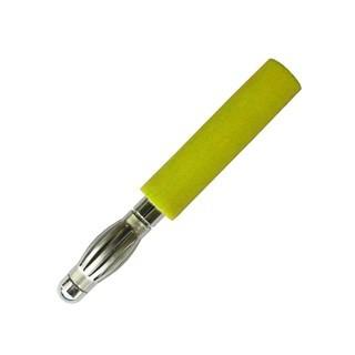 תקע בננה 2MM לכבל - צהוב ELECTRO PJP