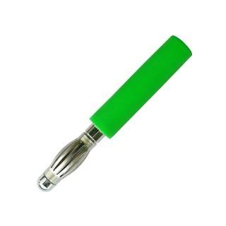 תקע בננה 2MM להלחמה לכבל - בידוד ירוק ELECTRO PJP