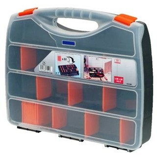 קופסת אחסון לרכיבים עם מחיצות נשלפות 480X380X80MM DURATOOL