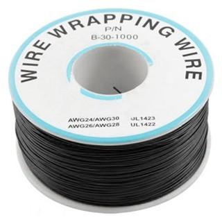 כבל 30AWG - WIREWRAP - גליל 305M - בידוד שחור PRO-POWER