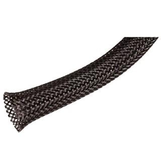 שרוול הגנה שחור מפוליאסטר לכבלים -  8MM ~ 17MM - גליל 10 מטר PRO-POWER