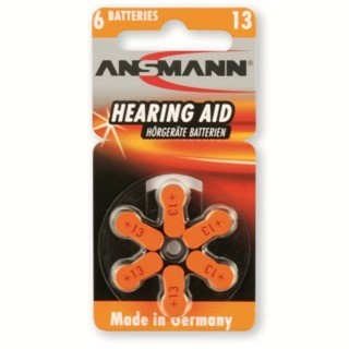 ANSMANN HEARING AID ALKALINE ZINC-AIR BATTERIES
