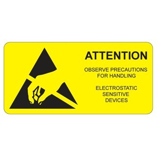 MULTICOMP ESD CAUTION LABELS