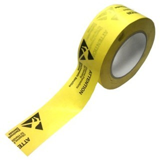 MULTICOMP PRINTED ESD WARNING PACKING TAPE