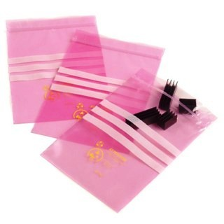 MULTICOMP RE-SEALABLE PINK ANTISTATIC BAGS