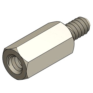 MULTICOMP PLASTIC HEX THREADED SPACERS - M3