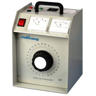 שנאי עם מתח משתנה (VARIAC) - נייד 10A MULTICOMP