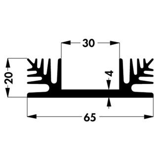 גוף קירור SK 48/50 SA-3 - 65X50X20MM FISHER ELEKTRONIK