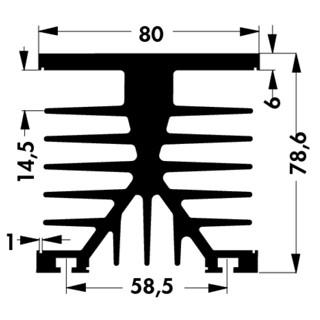 גוף קירור SK 89/150 SA - 150X80X78.6MM FISHER ELEKTRONIK