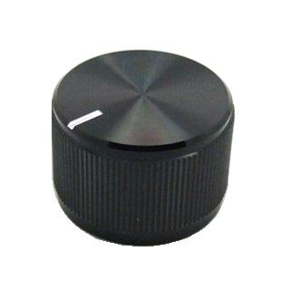כפתור אלומיניום שחור - 23.8MM MULTICOMP