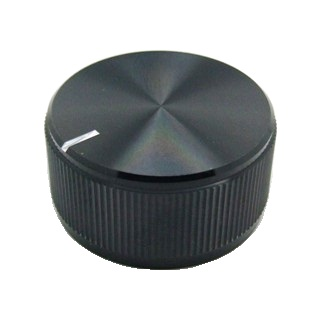 כפתור אלומיניום שחור - 31.8MM MULTICOMP