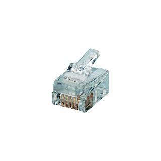מחבר RJ11 6P6C - זכר ללחיצה לכבל PRO-POWER