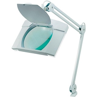 LIGHTCRAFT RECTANGULAR WIDE LENS TABLE MOUNT MAGNIFYING LAMP