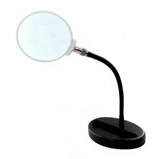 זכוכית מגדלת שולחנית עם זרוע גמישה MODELCRAFT