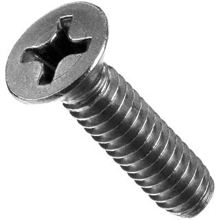 DURATOOL CROSS RECESSED COUNTERSUNK STAINLESS STEEL MACHINE SCREWS