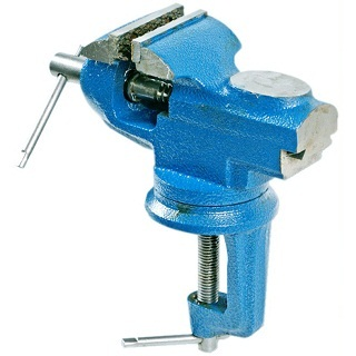 DURATOOL 60MM SWIVEL TABLE VICE WITH ANVIL