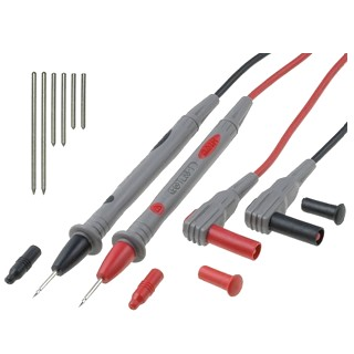TENMA 4MM TEST LEADS WITH PROBE OPTIONS
