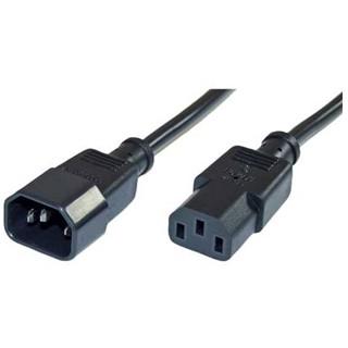 כבל חשמל יצוק - IEC זכר / IEC נקבה 0.5M PRO-ELEC