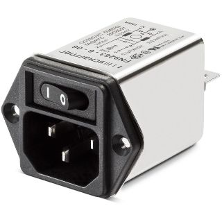 SCHAFFNER COMPACT FILTERED POWER ENTRY MODULE - FN 9264 SERIES