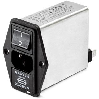 מסנן EMC / RFI עם כניסת מתח IEC - סדרה 6A - FN393E SCHAFFNER