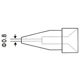 ראש לאקדח שואב בדיל חשמלי - קוני 0.8MM PROSKIT