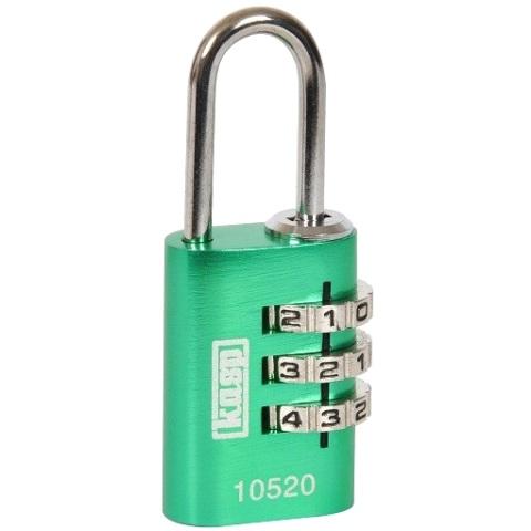 מנעול 3 ספרות (קומבינציה) - 30MM - ירוק KASP SECURITY