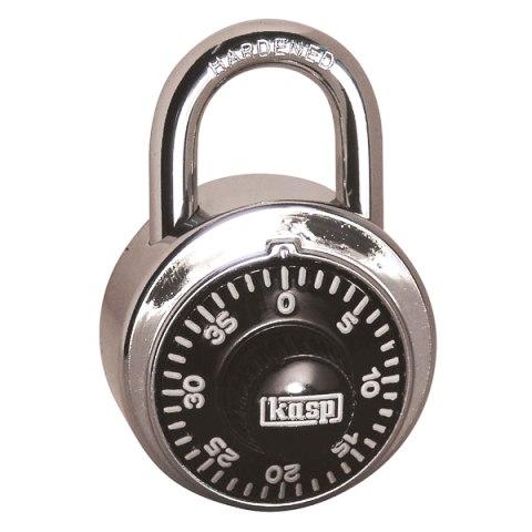 מנעול חוגה 3 ספרות (קומבינציה) - 48MM KASP SECURITY